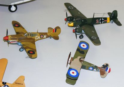 Rod's Kittyhawk,Henschel and Spad